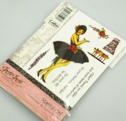 Frou Frou - MARTINI GIRL - A6 Rubber Stamp Set (Crafters Companion)
