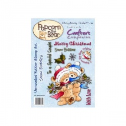 Popcorn the Bear Christmas Collection - Snow Buddies Stamp Set