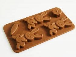 Bunny / Rabbit  / Carrot Silicone Chocolate Mould - Easter Favourite
