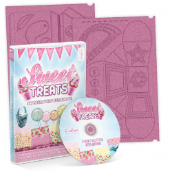 Crafters Companion SWEET TREATS BUNDLE OFFER - boards + cd - Paper / Card Craft