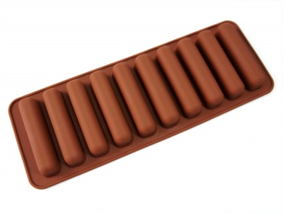 10 cell Water / Sports Bottle Ice Sticks Mould (Chocolate Barette)