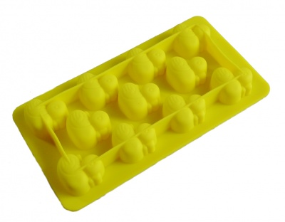 11 Duck / Ducks Chocolate Silicone Mould - YELLOW