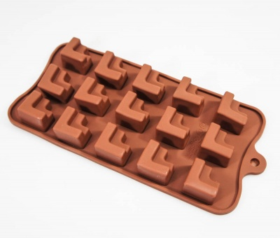 15 cell Geometric Shapes Silicone Chocolate Mould
