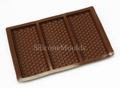 3 Bar Bubble Wrap Effect - Novelty Silicone Chocolate Bar Mould N063