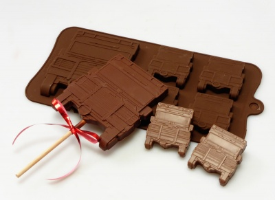 4+1 Off Road Vehicle 4x4 Lolly / Chocolate Bar Silicone Mould