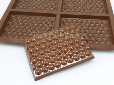 4 cell Bubble Wrap Effect  / Pattern Medium Chocolate Bar Silicone Mould