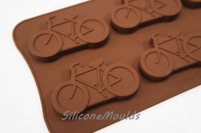 6 cell Large Bicycle / Bike Silicone Bakeware Chocolate Mould (20g)