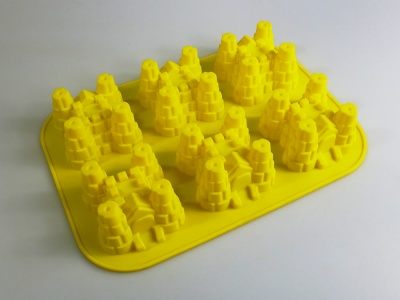 6 cell Standard Castle Silicone Cake Baking Mould - Clearance