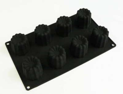 8 Large Caneles / Canneles Silicone Cake Baking Mould (fluted)