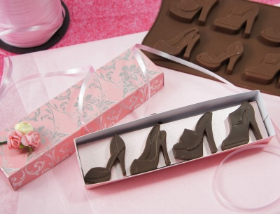 8 cell High Heeled Shoes Chocolate Bar Silicone Baking Mould