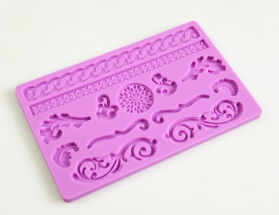 BAROQUE Sugar Paste Silicone Push Mould for Cake Decorating