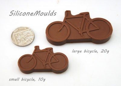 12 cell Small Bicycle / Bike Silicone Chocolate  Bakeware Mould (10g)