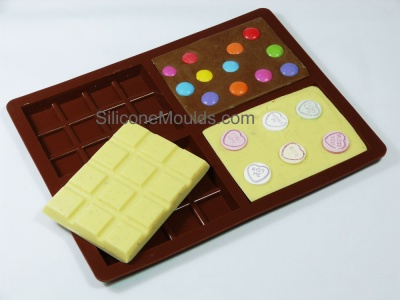 4 cell Medium Bar Chocolate Mould (70g) - C209
