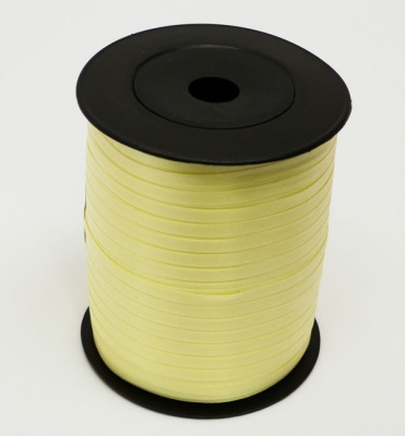 LIGHT YELLOW Curling Ribbon - 5mm wide 500 metres - Perfect for Presents and Gift Wrapping