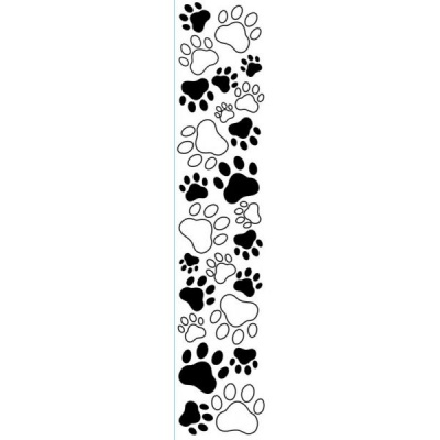 PAW PRINTS - Large Borders Embossing Folder 2.5 x 12 inches - by Darice