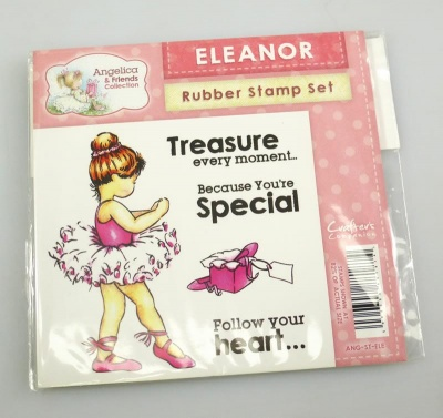 Angelica and Friends - ELEANOR Rubber Stamp Set (Crafters Companion)