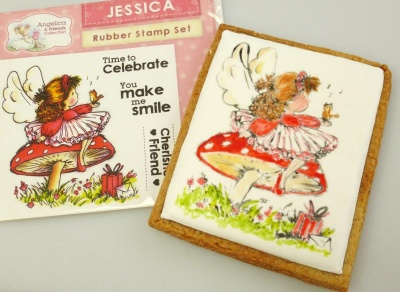 Angelica and Friends - JESSICA Rubber Stamp Set (Crafters Companion)
