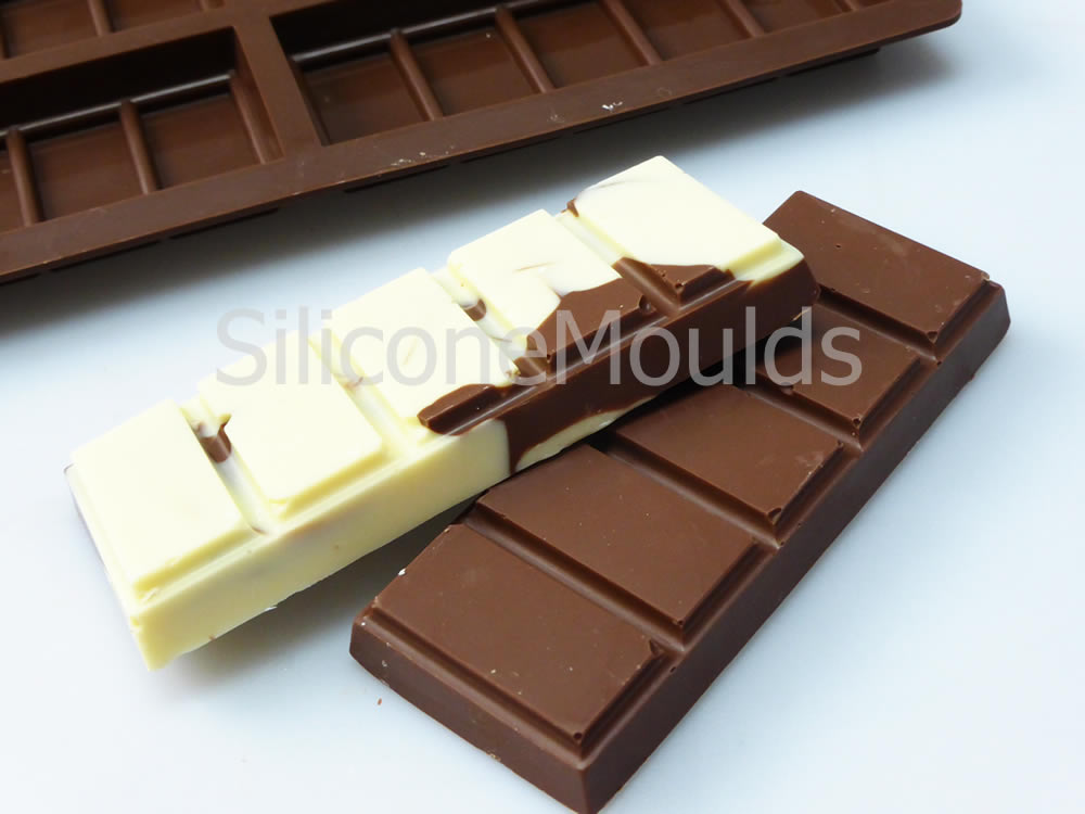 6 Cell Small 5 Section Rectangle Chocolate Bar Silicone