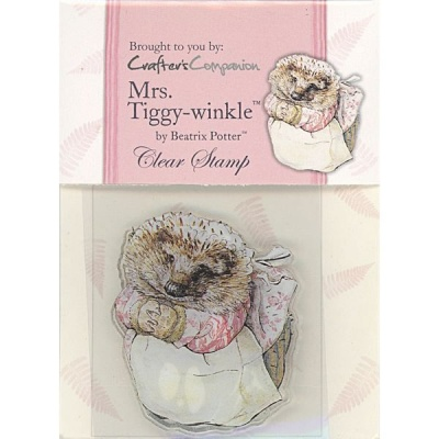 Beatrix Potter Acrylic Stamp - Mrs Tiggy-winkle for Paper / Card Crafting
