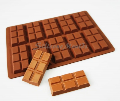 27g - 10 cell 6 Section Rectangular Silicone Chocolate Bar Mould N079