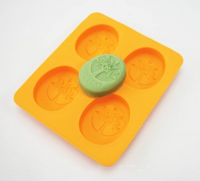 OVAL - Tree of Life  - 4 cell Silicone Soap Bar Mould