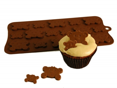 PEEK-A-BOO TEDDY BEARS Chocolate Collection Silicone Mould