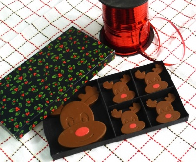 4+1 Rudolph / Reindeer Chocolate Collection Silicone Mould
