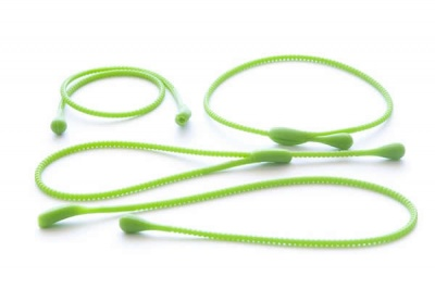 Pack of 4 Silicone Food Ropes / Ties - GREEN - CLEARANCE