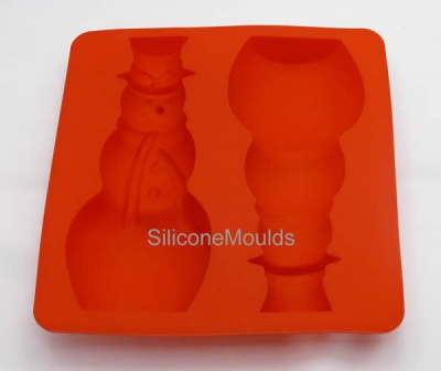 SNOWMAN - 3D Christmas figure silicone chocolate mould