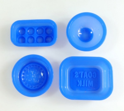 Soap Set 1 - Goats Milk & Feel Good Silicone Mould Set - BLUE