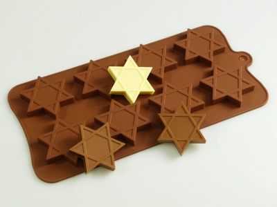 8 cell Star of David Chocolate Collection Silicone Mould