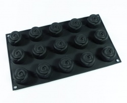 15 cell Rose Chocolate / Candy Silicone Cake Baking Mould