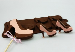 4+1 High Heeled Shoe Lolly / Novelty Chocolate Bar Silicone Baking Mould