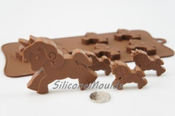 4+1 Unicorn Pony Silicone Chocolate / Candy Baking Mould