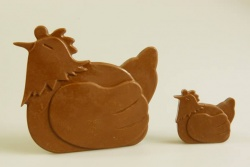 4+1 Chicken / Hen Chocolate Collection Silicone Bakeware Mold