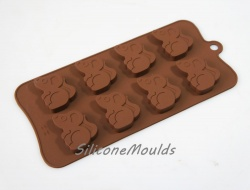 8 cell Large Field Mouse (17.5g) Silicone Chocolate / Candy Mould - Woodland Animals