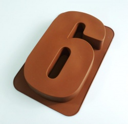 LARGE NUMBER 6 or 9 - Birthday Cake Silicone Baking Mould