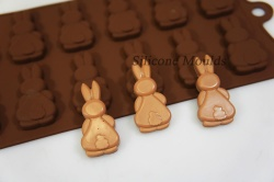 12 cell Bunny Butts (Rabbits) Silicone Chocolate Bakeware Mould