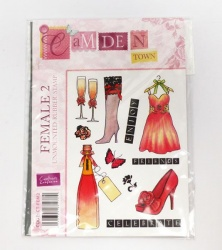 Camden Town A6 Rubber Stamp - FEMALE 2 (Crafters Companion)