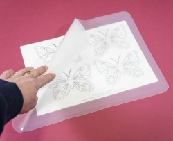 CLEAR Silicone Baking Sheet / Work Mat / Tray Liner - ideal for royal icing and chocolate work