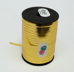 METALLIC GOLD Curling Ribbon - 5mm wide 250 metres