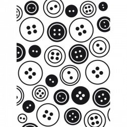 BUTTONS - Embossing Folder 4.23 x 5.75 inches - by Darice