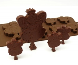 6 + 1 Fairy Chocolate / Candy Silicone Bakeware Mould ©SJK