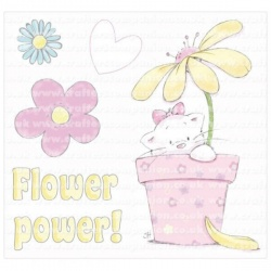 Strawberry Kisses - Flower Power Stamp Set