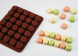 Chocolate Letter Blocks LOWER CASE - Silicone Chocolate / Candy Mould