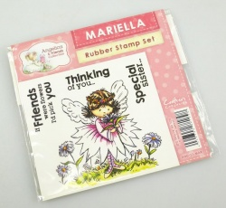 Angelica and Friends - MARIELLA Rubber Stamp Set (Crafters Companion)