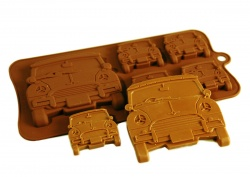 4+1 Mini Car Chocolate Collection Silicone Baking Mould