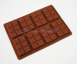 35g - 8 cell 6 Section Rectangular Silicone Chocolate Bar Mould N076