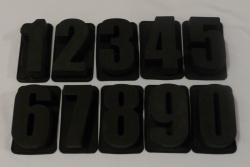 Full Set of 10 Numbers - Say It With Cake 4.5inch Chocolate Silicone Baking Moulds