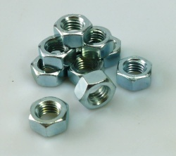 Pack of 10 x M10 Thread BZP Nuts